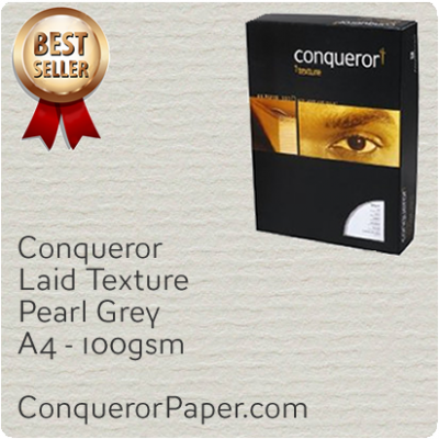 PAPER - Laid.64026C, TINT:Pearl Grey, FINISH:Laid, PAPER:100gsm, SIZE:A4-210x297mm, QTY:250Sheets, WATERMARKED:No
