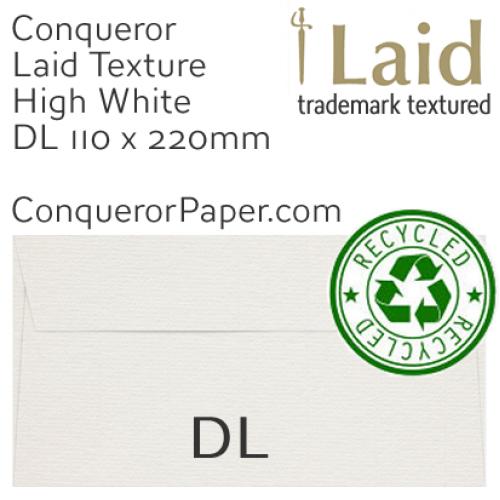 ENVELOPES - Laid.82907, TINT=MilkWhite, WINDOW=No, TYPE=Wallet, SIZE=DL-110x220mm, QUANTITY=500, Recycled