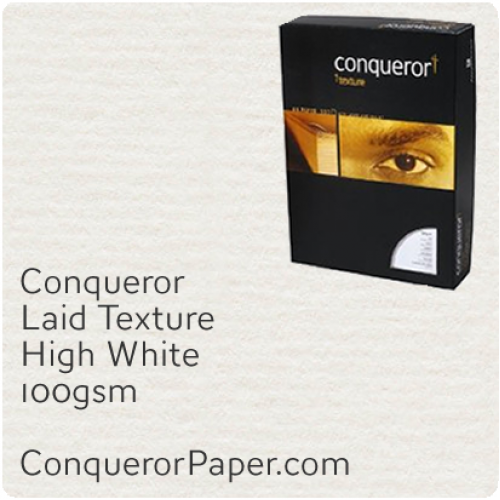 PAPER - Laid.96823C, TINT:HighWhite, FINISH:Laid, PAPER:100gsm, SIZE:A4-210x297mm, QTY:250Sheets, WATERMARK:No