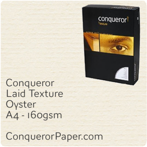 PAPER - Laid.97122C, TINT:Oyster, FINISH:Laid, PAPER:160gsm, SIZE:A4-210x297mm, QTY:150Sheets, WATERMARK:No