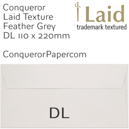 ENVELOPES - Laid.42875, WINDOW=No, TYPE=Wallet, TINT=Feather Grey, SIZE=DL-110x220mm, QUANTITY=500
