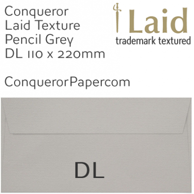 ENVELOPES - Laid.42874, WINDOW=No, TYPE=Wallet, TINT=Pencil Grey, SIZE=DL-110x220mm, QUANTITY=500