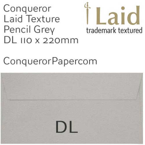 ENVELOPES - Laid.42874, WINDOW=No, TYPE=Wallet, TINT=Pencil Grey, SIZE=DL-110x220mm, QUANTITY=500