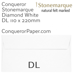 ENVELOPES - STONEMARQUE.03004, TINT=DiamondWhite, WINDOW=No, TYPE=Wallet, QUANTITY=500, SIZE=DL-110x220mm