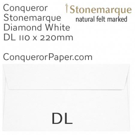 ENVELOPES - STONEMARQUE.03004, TINT=DiamondWhite, WINDOW=No, TYPE=Wallet, QUANTITY=500, SIZE=DL-110x220mm