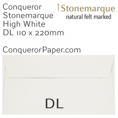 ENVELOPES - STONEMARQUE.03005, TINT=HighWhite, WINDOW=No, TYPE=Wallet, QUANTITY=500, SIZE=DL-110x220mm