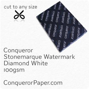 PAPER - Stonemarque.96906, TINT:DiamondWhite, FINISH:Stonemaque, PAPER:100gsm, SIZE:450x640mm, QUANTITY:500Sheets, WATERMARK:Yes