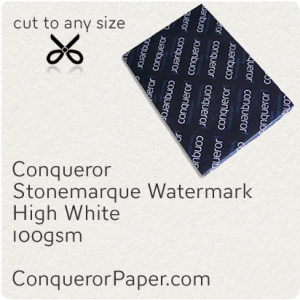 PAPER - Stonemarque.96908, TINT:HighWhite, FINISH:Stonemaque, PAPER:100gsm, SIZE:450x640mm, QUANTITY:500Sheets, WATERMARK:Yes