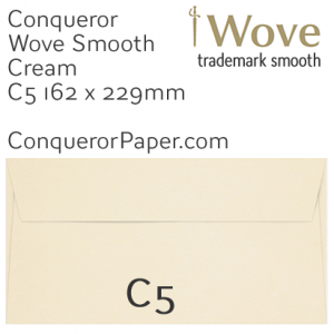 ENVELOPES - Wove.01088, TINT=Cream, WINDOW=No, TYPE=Wallet, SIZE=C5-162x229mm, QUANTITY=250