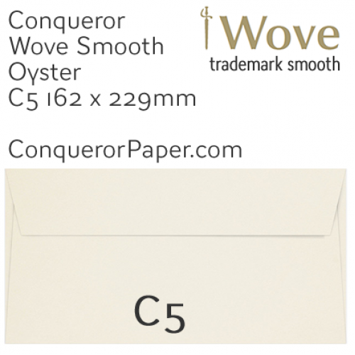 ENVELOPES - Wove.01089, TINT=Oyster, WINDOW=No, TYPE=Wallet, SIZE=C5-162x229mm, QUANTITY=250