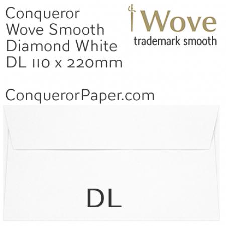 ENVELOPES - Wove.01251, TINT=DiamondWhite, WINDOW=No, TYPE=Wallet, SIZE=DL-110x220mm, QUANTITY=500