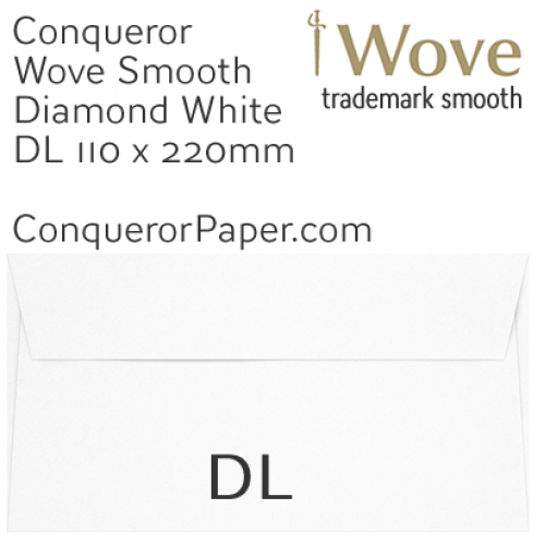ENVELOPES - Wove.01251, TINT=DiamondWhite, WINDOW=No, TYPE=Wallet, SIZE=DL-110x220mm, QUANTITY=500