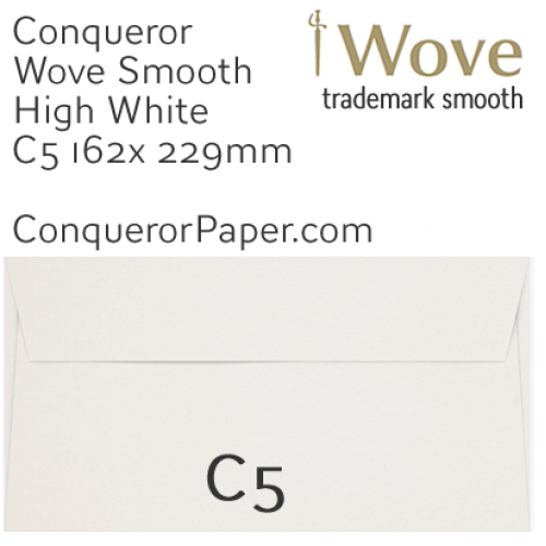 ENVELOPES - Wove.01263, TINT=HighWhite, WINDOW=No, TYPE=Wallet, SIZE=C5-162x229mm, QUANTITY=250