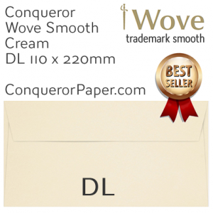 ENVELOPES - Wove.01327, TINT=Cream, WINDOW=No, TYPE=Wallet, SIZE=DL-110x220mm, QUANTITY=500