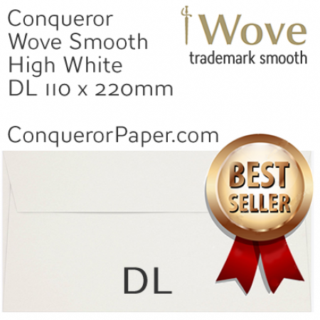 ENVELOPES - Wove.01439, TINT=HighWhite, WINDOW=No, TYPE=Wallet, SIZE=DL-110x220mm, QUANTITY=500