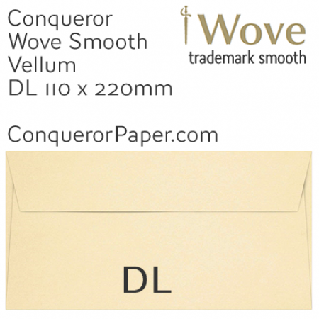 ENVELOPES - Wove.01456, TINT=Vellum, WINDOW=No, TYPE=Wallet, SIZE=DL-110x220mm, QUANTITY=500