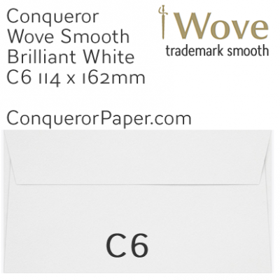 ENVELOPES - Wove.01510, WINDOW=No, TYPE=Wallet, TINT=BrilliantWhite, SIZE=C6-114x162mm, QUANTITY=500