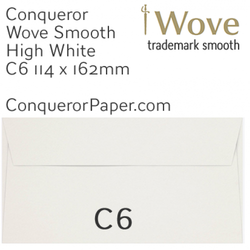 ENVELOPES - Wove.01512, TINT=HighWhite, WINDOW=No, TYPE=Wallet, SIZE=C6-114x162mm, QUANTITY=500