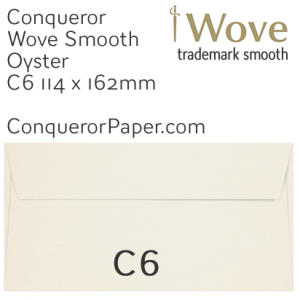ENVELOPES - Wove.01513, TINT=Oyster, WINDOW=No, TYPE=Wallet, SIZE=C6-114x162mm, QUANTITY=500