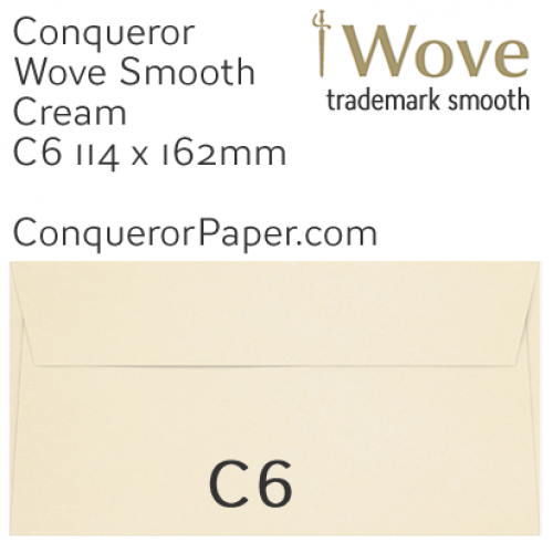 ENVELOPES - Wove.01514, TINT=Cream, WINDOW=No, TYPE=Wallet, SIZE=C6-114x162mm, QUANTITY=500