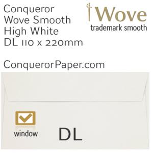 ENVELOPES - Wove.01530, TINT=HighWhite, WINDOW=Yes, TYPE=Wallet, SIZE=DL-110x220mm, QUANTITY=500