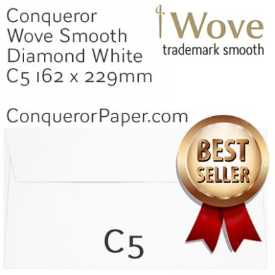 ENVELOPES - Wove.01540, TINT=DiamondWhite, WINDOW=No, TYPE=Wallet, SIZE=C5-162x229mm, QUANTITY=250