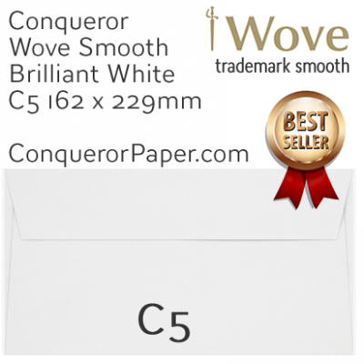 ENVELOPES - Wove.01541, TINT=BrilliantWhite, WINDOW=NoWindow, TYPE=Wallet, SIZE=C5=162x229mm, QUANTITY=250