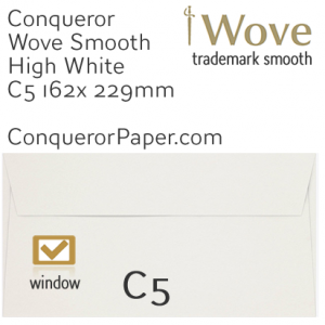 ENVELOPES - Wove.01560, TINT=HighWhite, WINDOW=Yes, TYPE=Wallet, SIZE=C5-162x229mm, QUANTITY=250