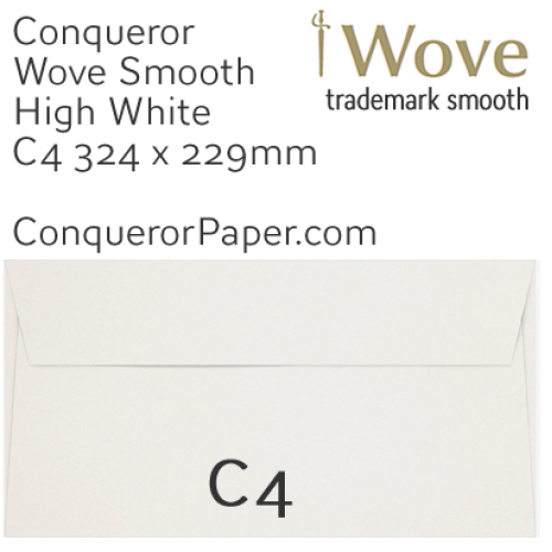 ENVELOPES - Wove.01868, TINT=HighWhite, WINDOW=No, TYPE=Wallet, SIZE=C4-324x229mm, QUANTITY=250