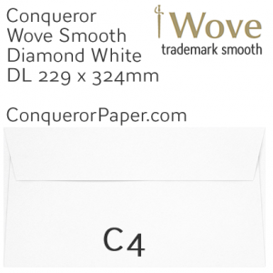 ENVELOPES - Wove.02620, TINT=DiamondWhite, WINDOW=No, TYPE=Wallet, SIZE=C4-324x229mm, QUANTITY=250
