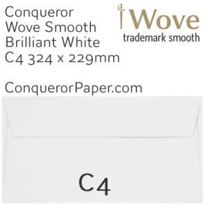 ENVELOPES - Wove.02621, TINT=BrilliantWhite, WINDOW=No, TYPE=Pocket, SIZE=C4-229x324mm, QUANTITY=250