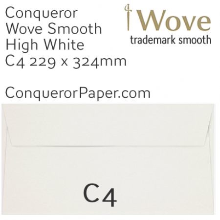 ENVELOPES - Wove.02622, TINT=HighWhite, WINDOW=No, TYPE=Pocket, SIZE=C4-229x324mm, QUANTITY=250