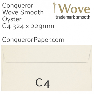 ENVELOPES - Wove.02624, TINT=Oyster, WINDOW=No, TYPE=Pocket, SIZE=C4-229x324mm, QUANTITY=250