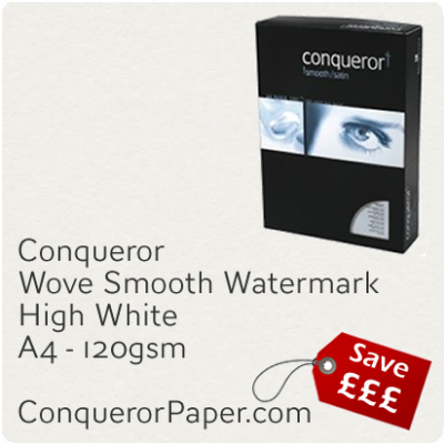 PAPER - Wove.25492, TINT:HighWhite, FINISH:Wove, PAPER:120gsm, SIZE:210x297mm, QTY:500Sheets, WATERMARK:Yes
