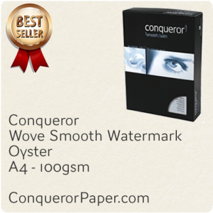 PAPER - Wove.25584, TINT:Oyster, FINISH:Wove, PAPER:100gsm, SIZE:A4 210x297mm, QTY:500Sheets, WATERMARK:Yes
