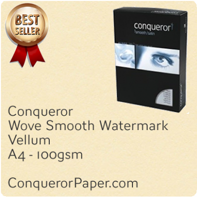 PAPER - Wove.25666, TINT:Vellum, FINISH:Wove, PAPER:100gsm, SIZE:A4 210x297mm, QTY:500Sheets, WATERMARK:Yes