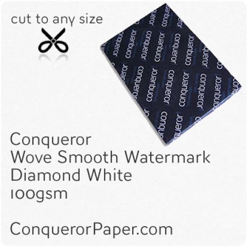 PAPER - Wove.26659, TINT:DiamondWhite, FINISH:Wove, PAPER:100gsm, SIZE:SRA2 - 450x640mm, QUANTITY:500Sheets, WATERMARK:Yes