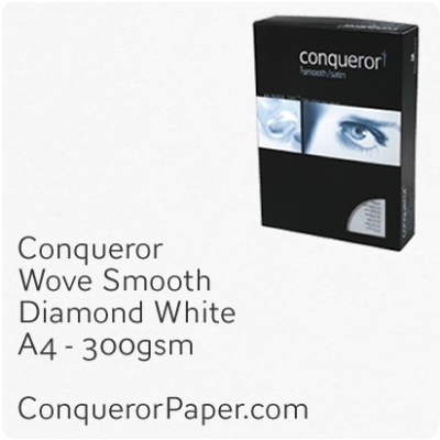 PAPER - Wove.26663C, TINT:DiamondWhite, FINISH:Wove, PAPER:300gsm, SIZE:A4-210x297mm, QTY:100Sheets, WATERMARK:No