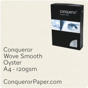 PAPER - Wove.42510C, TINT:Oyster, FINISH:Wove, PAPER:120gsm, SIZE:A4-210x297mm, QTY:500Sheets, WATERMARK:No