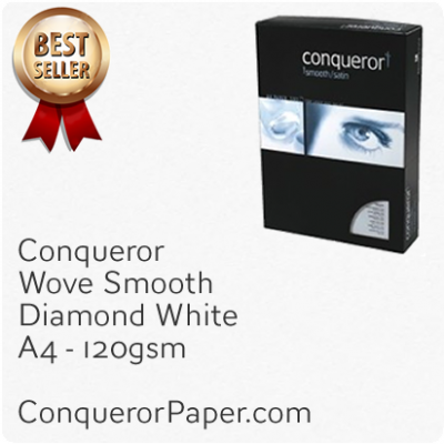 PAPER - Wove.42521C, TINT:DiamondWhite, FINISH:Wove, PAPER:120gsm, SIZE:A4-210x297mm, QTY:500Sheets, WATERMARK:No