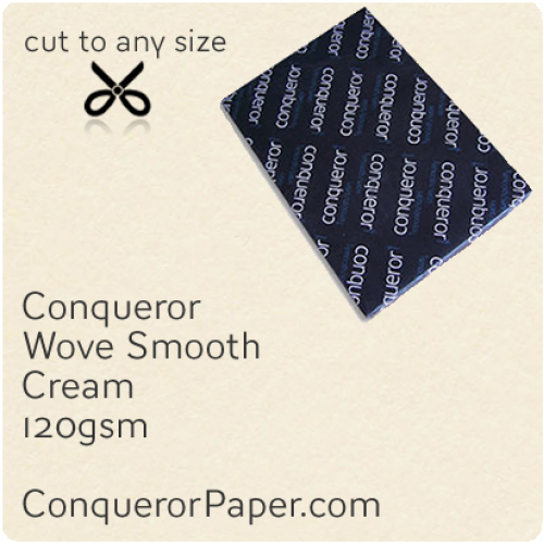 PAPER - Wove.42529, TINT:Cream, FINISH:Wove, PAPER:120gsm, SIZE:450x640mm, QTY:250Sheets, WATERMARK:No