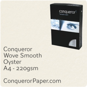 PAPER - Wove.47827C, TINT:Oyster, FINISH:Wove, PAPER:220gsm, SIZE:A4-210x297mm, QTY:100Sheets, WATERMARK:No
