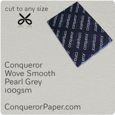 PAPER - Wove.64028, TINT:Pearl Grey, FINISH:Wove, PAPER:100gsm, SIZE:B1-700x1000mm, QTY:250Sheets, WATERMARKED:No