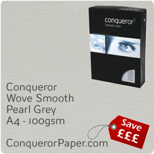 PAPER - Wove.64028C, TINT:Pearl Grey, FINISH:Wove, PAPER:100gsm, SIZE:A4-210x297mm, QTY:250Sheets, WATERMARKED:No