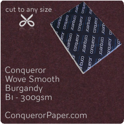 PAPER - Wove.64036, TINT:Burgandy, FINISH:Wove, PAPER:300gsm, SIZE:B1-700x1000mm, QTY:100Sheets, WATERMARKED:No