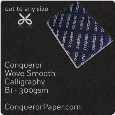 PAPER - Wove.64038, TINT:Calligraphy, FINISH:Wove, PAPER:300gsm, SIZE:B1-700x1000mm, QTY:100Sheets, WATERMARKED:No