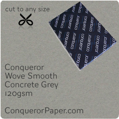 PAPER - Wove.72238, TINT:Concrete Grey, FINISH:Wove, PAPER:120gsm, SIZE:B1-700x1000mm, QTY:250Sheets, WATERMARKED:No