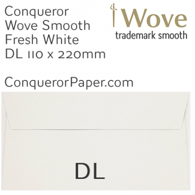 ENVELOPES - Wove.82910, TINT=FreshWhite, WINDOW=No, TYPE=Wallet, SIZE=DL-110x220mm, QUANTITY=500, Recycled