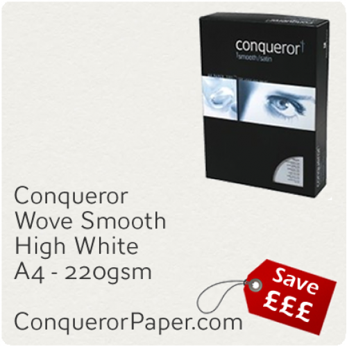 PAPER - Wove.97140C, TINT:HighWhite, FINISH:Wove, PAPER:220gsm, SIZE:210x297mm, QTY:100Sheets, WATERMARK:No