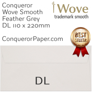 ENVELOPES - Wove.42891, WINDOW=No, TYPE=Wallet, TINT=Feather Grey, SIZE=DL-110x220mm, QUANTITY=500